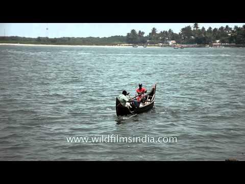 Fishermen fishing on Arabian sea