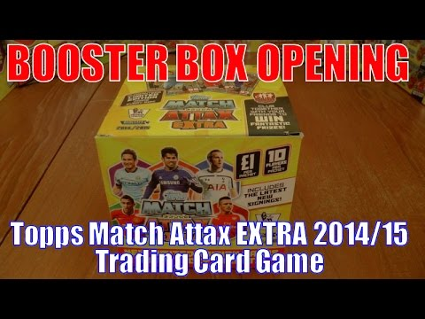 YT PREMIERE... ⚽️ UNBOXING BOOSTER BOX (500 CARDS!!!) ⚽️ topps MATCH ATTAX EXTRA 2015 Trading Cards