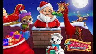 क्रिसमस पशु हेयर सैलून 2 - पागल सांता बदलाव - बच्चों के लिए TutoTOONS खेल screenshot 3