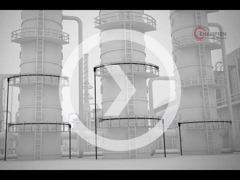 Chemical Plants - Haz Duct XW Type Fiberglass Conduit Installation