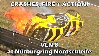 CRASHES + ACTION! VLN 8 at Nürburgring Nordschleife 2018