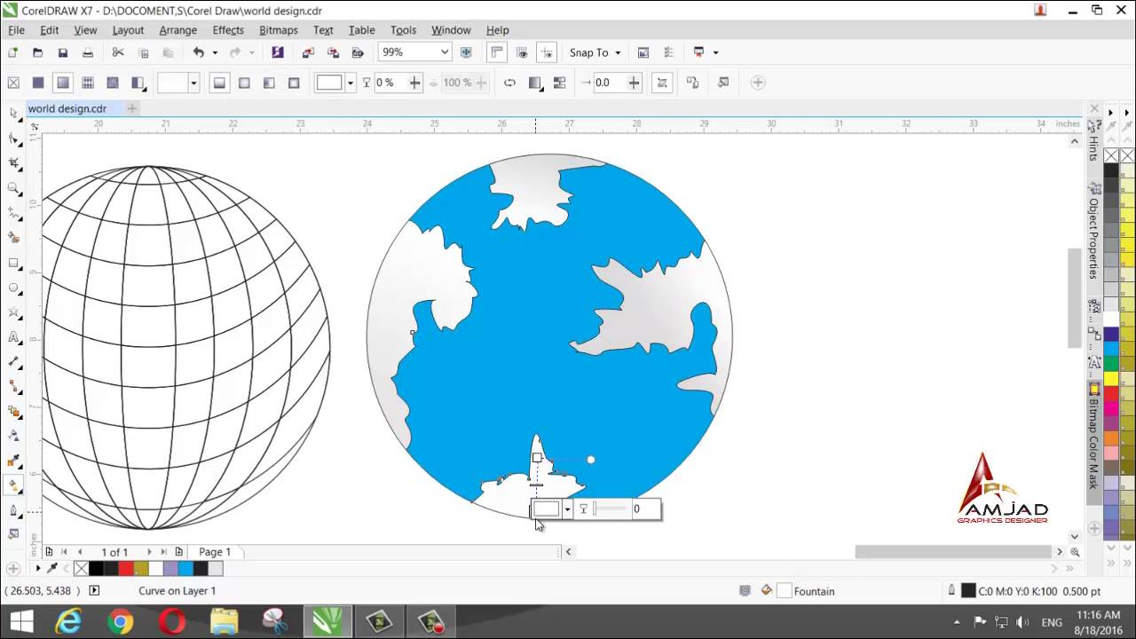 Make a world map design in corel draw x7 youtube make a world map design in corel draw x7 gumiabroncs Gallery