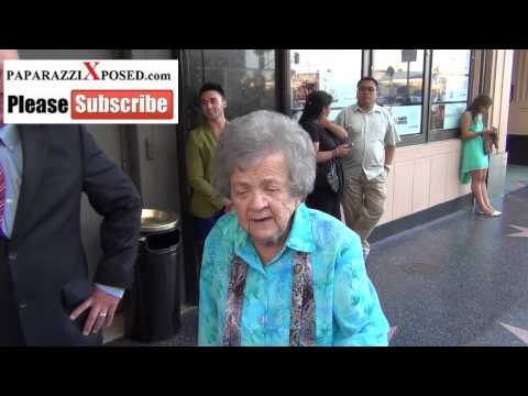 Pat Crawford Brown outside The Pantages Theatre in Hollywood