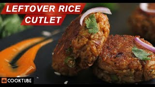 Leftover Rice Cutlet Recipe | What to Do with Leftover Rice | Rice Cutlet Recipe