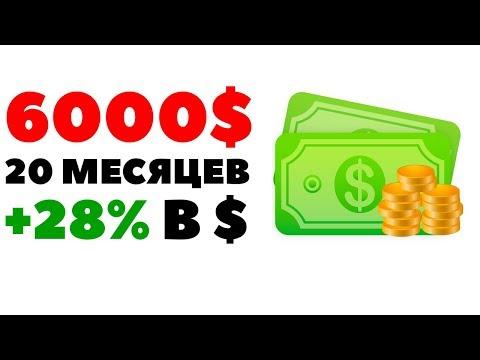 ????Кейс: Инвестиции под 28% в долларах за 20 месяцев. Как инвестировать 6000$?