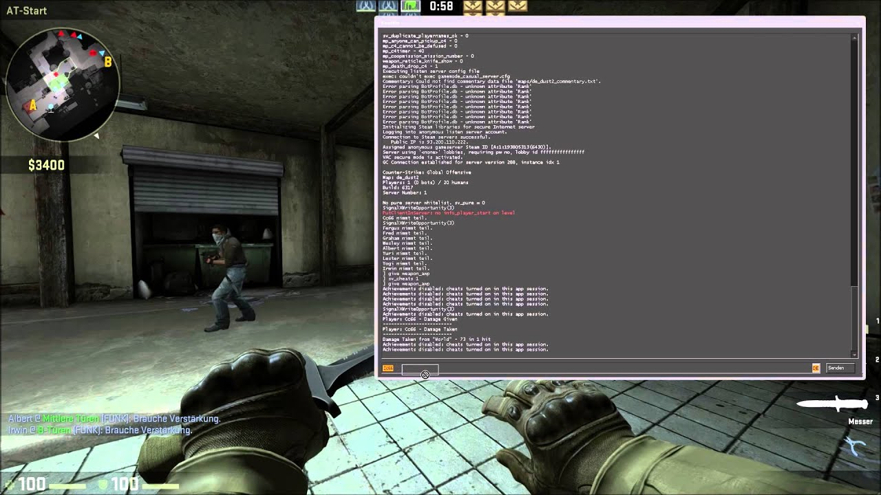 how to change crosshair in cs go console