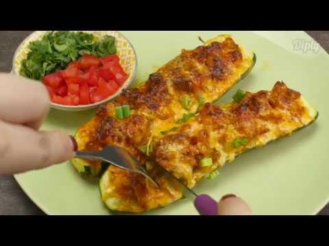 Delicious Zucchini Taco Boats