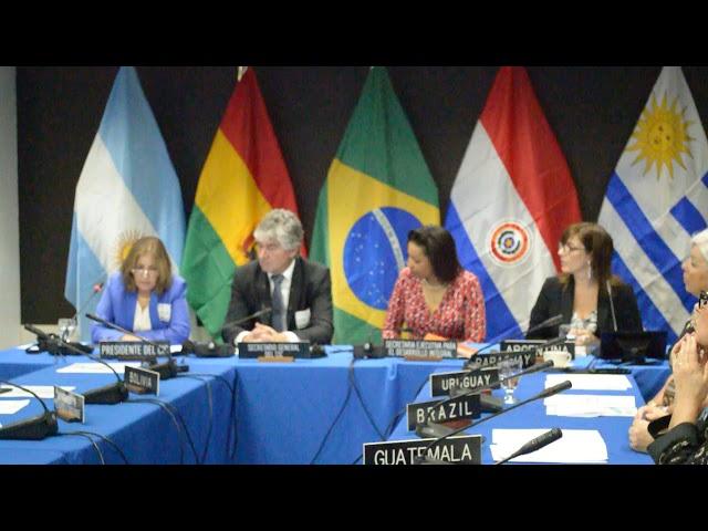 Presentación de la Embajadora Miryam Fraschini en Firma MOU