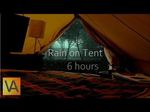 ☔Nature Sounds: Rain on a Tent High Quality (relaxing, sleeping, studying)