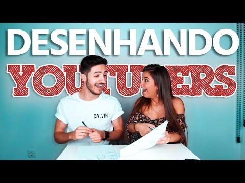 DESENHANDO YOUTUBERS c\ Carly Santos | Gabriel Ferreira