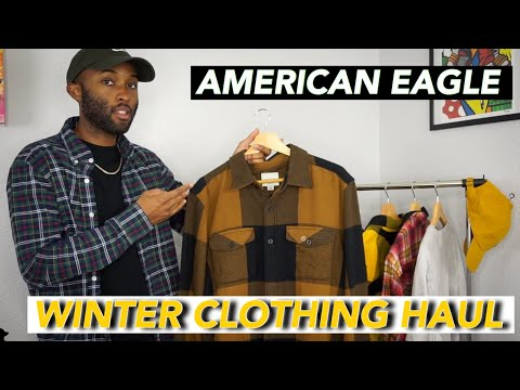 American Eagle Mens Winter Clothing Haul + T Shirt Pickups