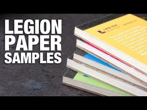 Testing 11 Samples of Legion Paper