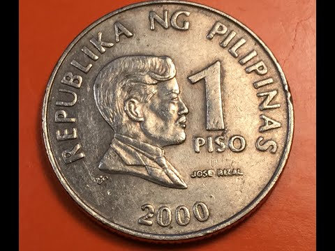 2000 Philippines 1 Piso Jose Rizal - 1 Peso
