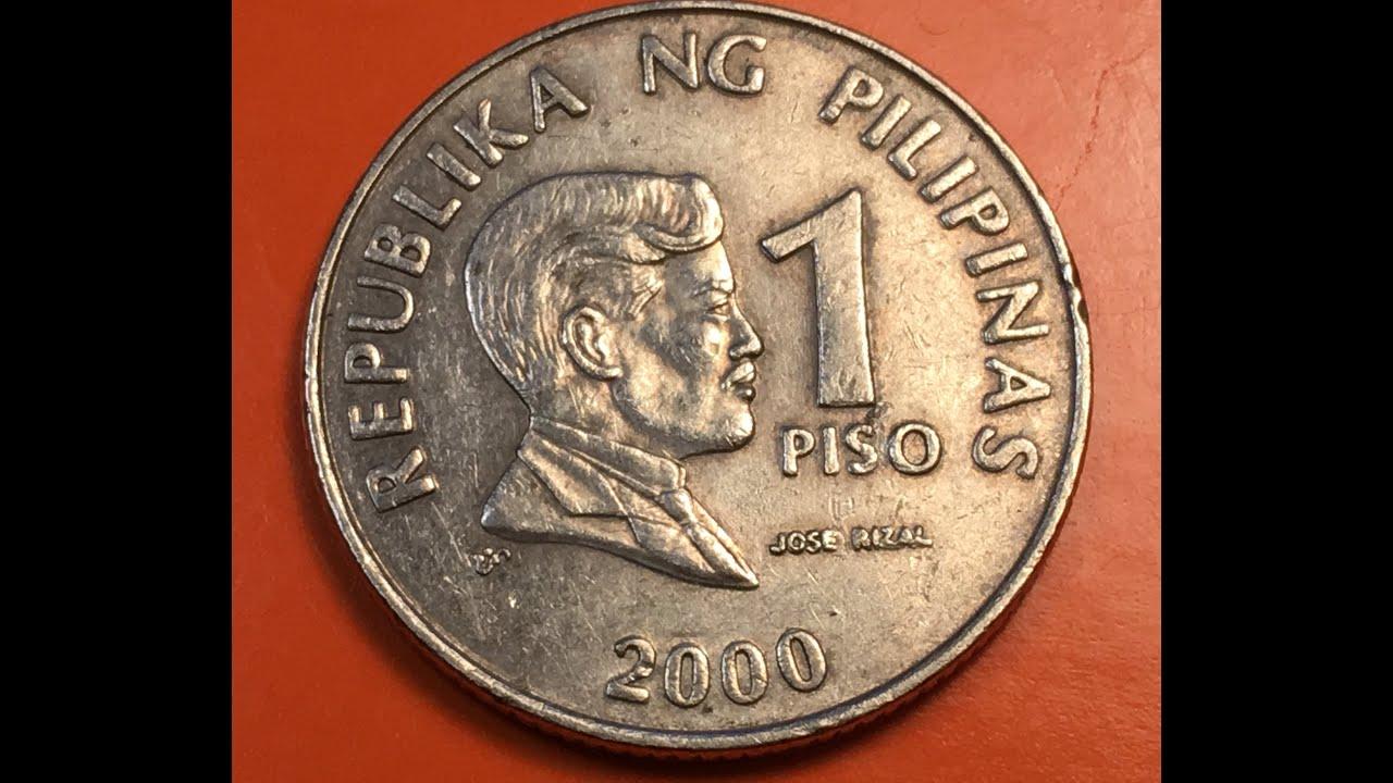 2000 Philippines 1 Piso Jose Rizal