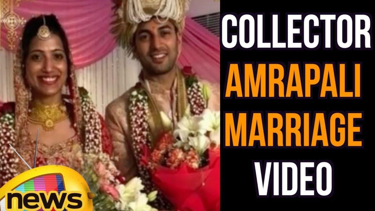 Warangal Collector Amrapali Marriage Visuals, Married To IPS Officer Sameer  Sharma | Mango News