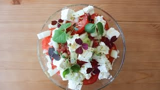 How To Make A Tomato, Onion And Feta Cheese Salad - By One Kitchen Episode 147