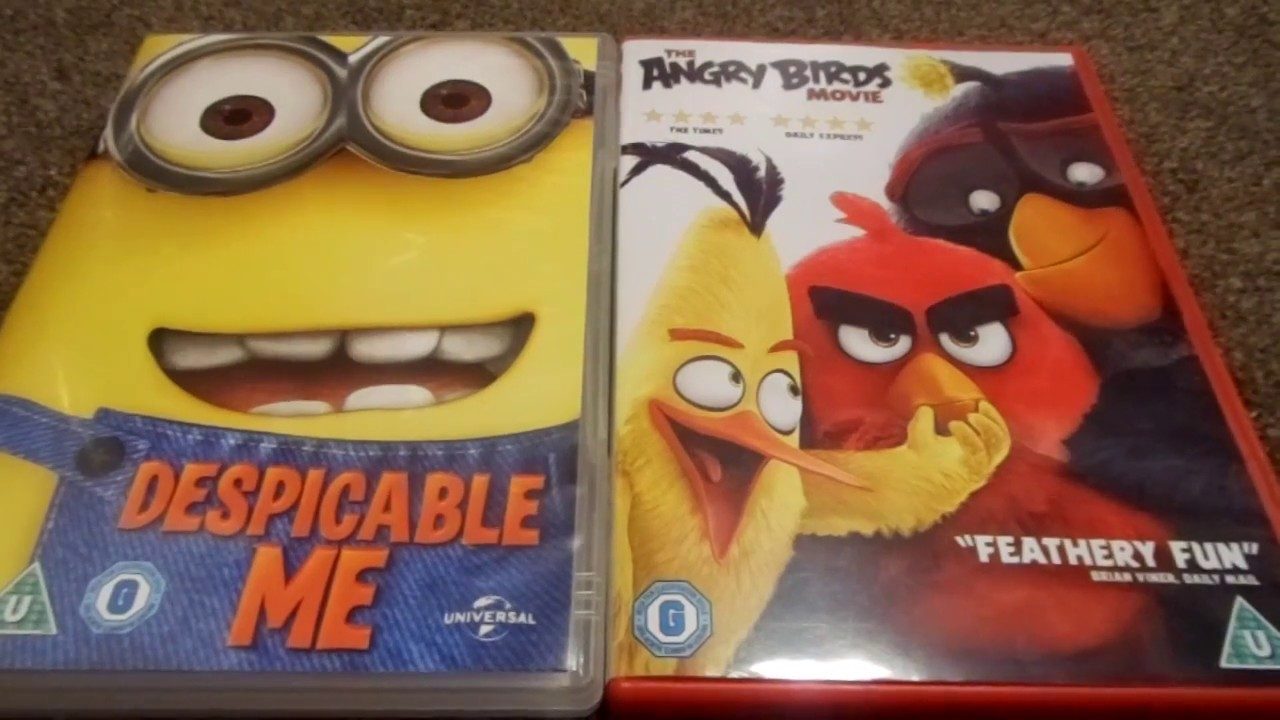Despicable Me And The Angry Birds Movie Uk Dvd Unboxing Youtube
