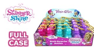 Shimmer and Shine Teenie Genies Full Case Unboxing Blind Genie Surprise Bottles Entire Case