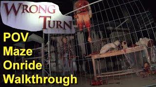 Wrong Turn – Onride – Walkthrough - Rundgang - Halloween Horror Festival 2018 - Movie Park Germany