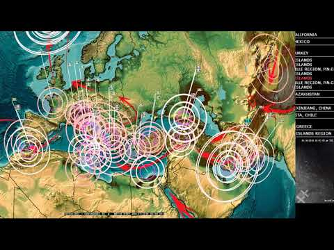 1/30/2018 -- Pacific Earthquakes caused by pressure transfer -- West Coast California on watch