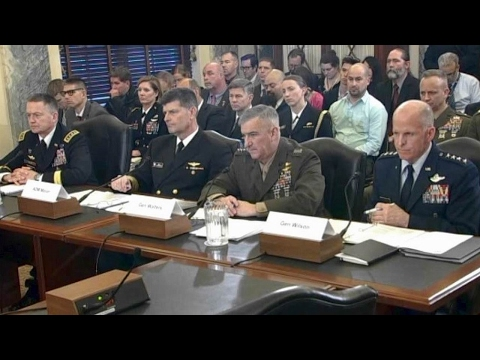 Tim Kaine. Senate Armed Services Subcommittee Hearing on State of Military  Feb 8  2017