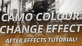 After Effects For Nerds: Camo Colour Change Effect