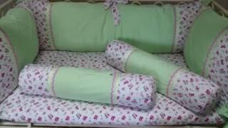 Шьем постельное белье с бортиками в детскую кроватку(Постельное белье из тканей премиум класса, шикарный комплект в детскую кроватку., 2016-09-16T13:58:00.000Z)