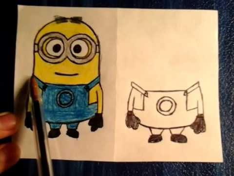 Как нарисовать миньона карандашом