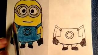 как нарисовать Миньона из Гадкий Я How to Draw a Minion  Art School