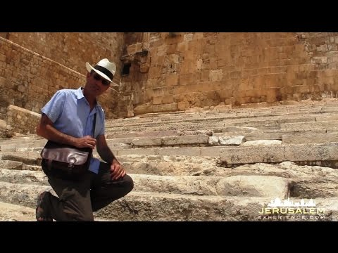 On these stones Jesus actually walked. An Archaeological evidence! Temple Mount,  Jerusalem