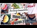 How to make Instagrammable smoothie bowls! 3 options including VEGAN and NON VEGAN