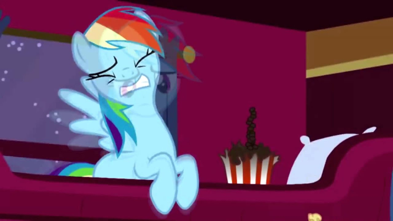 Rainbow Dash Gets Hit By Popcorns While I Play Somewhat