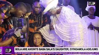 BOLA ARE ANOINTS BABA SALA'S DAUGHTER, OYINDAMOLA ADEJUMO