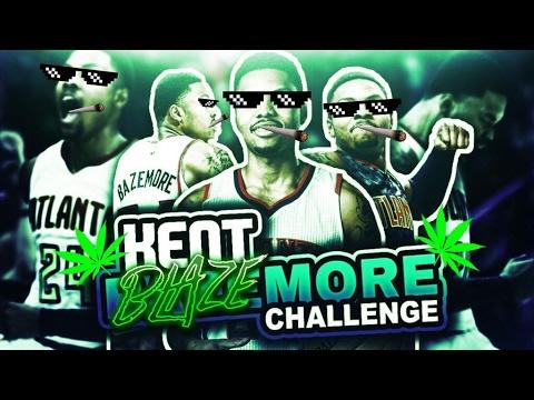 KENT BLAZEMORE CHALLENGE! HAPPY 4/20! NBA 2K17 MY LEAGUE