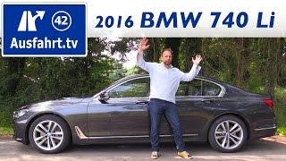 2016 bmw 740li g12 fahrbericht der probefahrt test review ausfahrt tv