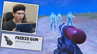 I FOUND A FREEZE GUN! | PUBG Mobile
