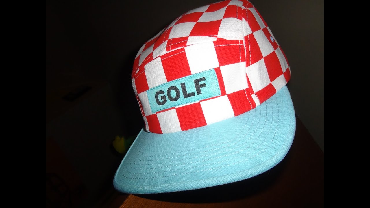 e35312c6446f GOLF WANG CHECKERED CAMP RED/ WHITE HAT - YouTube