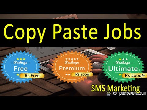 Copy Paste Jobs  | Affiliate Marketing Links Promotion  | Free Online Jobs