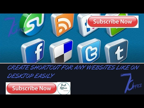 Create Shortcut For Any Websites Like On Desktop Easily