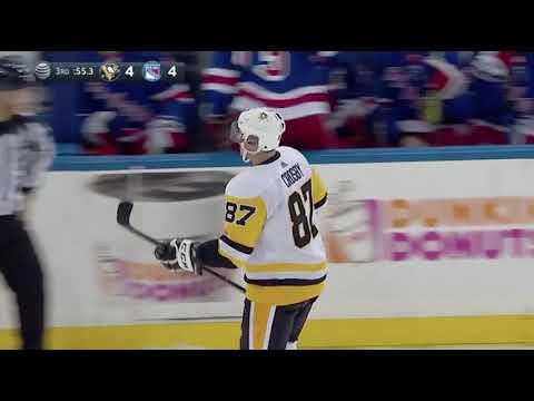 Sidney Crosby Tying Goal vs NY Rangers October 17, 2017