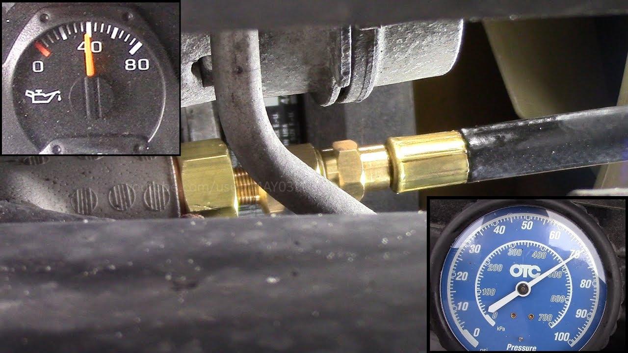 Trailblazer Oil Pressure Test Without The J 42907 Gauge Lies Video 2
