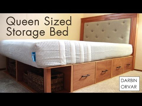 DIY Queen Storage Bed W/ Drawers