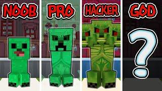 Minecraft Animation - Noob Vs Pro Vs Hacker Vs God  Creeper Evolve|the Spawners