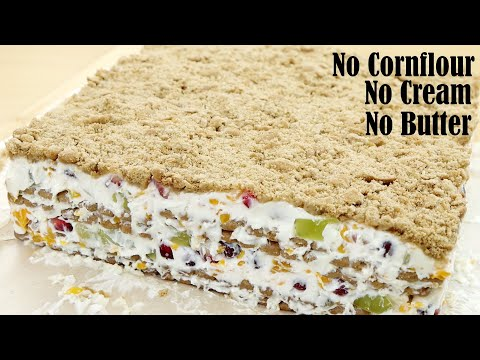 EASY FRUIT CAKE RECIPE (NO BAKE)