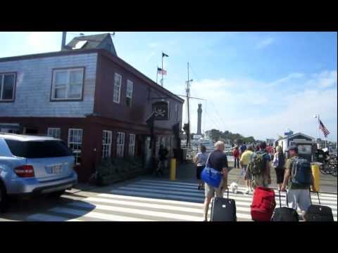 Arriving in Provincetown Massachusetts from Boston Fast Ferry
