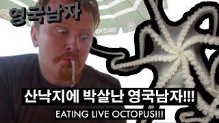 산낙지에 박살난 영국남자 조니!! // Eating LIVE OCTOPUS!!