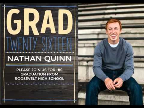 How to create graduation invitation youtube how to create graduation invitation filmwisefo