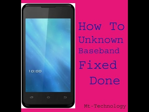 Mtk All Baseband Unknwon fixed Sloved Solution Done