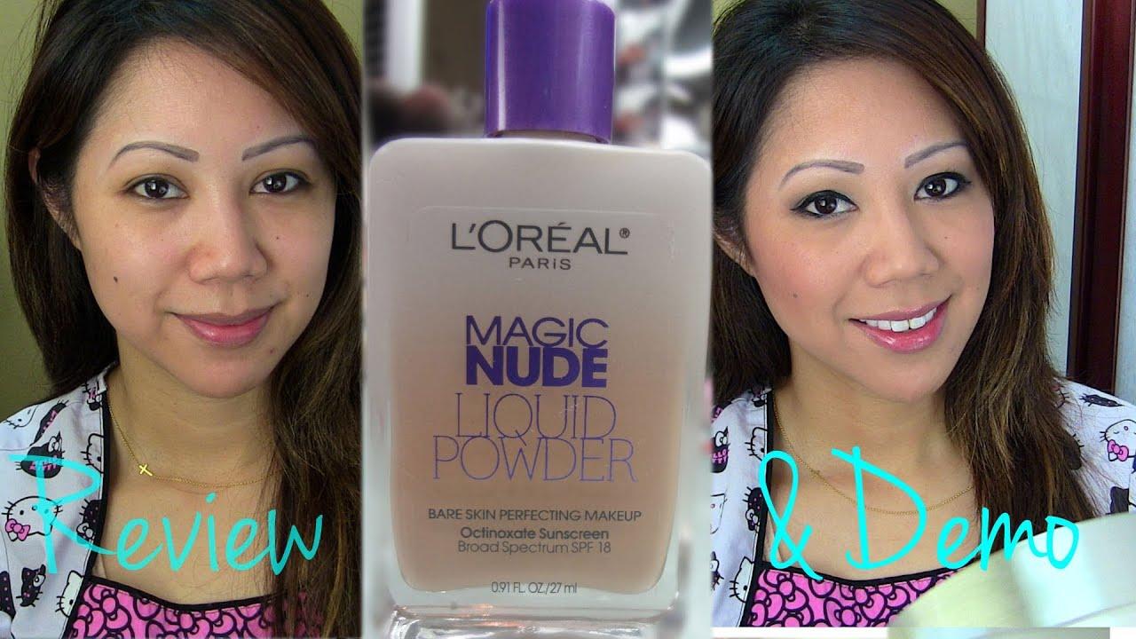 LOreal Magic Nude Liquid Powder Foundation Demo/First