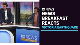 Watch an earthquake shake ABC News Breakfast's TV studio in Melbourne   ABC News
